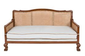 traditional furniture antique teak and caned calcutta sofa traditional sofas