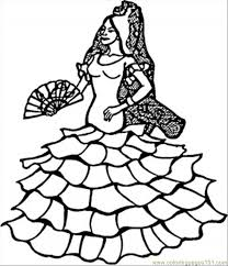 spanish dancer coloring free spain coloring pages