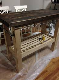 Groland Kitchen Island How To Stain And Finish A Rustic Kitchen Island Ikea Groland