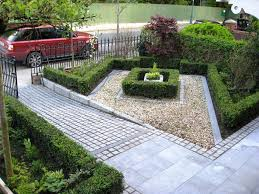 sloping pictures inspiring front yard driveway landscaping ideas
