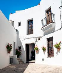 houses with courtyards white houses with courtyards stock photo image of architecture