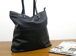 Handmade Leather Tote Bag - leather tote bag leather tote black tote bag shoulder bag