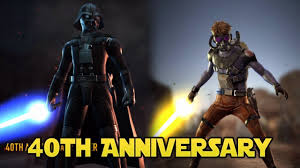 40th anniversary luke and vader star wars force arena youtube