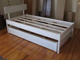 joseph lana guest bed white frame with trundle inside single only