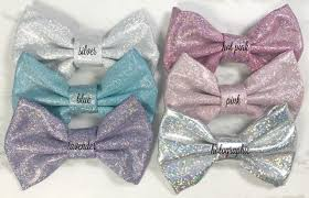 wholesale hairbows 4 metallic glitter bows no fabric hair bows sequin hair