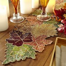 pier 1 thanksgiving sale beaded leaves table runner pier 1 imports crafts beads
