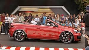 volkswagen convertible cabrio vw golf gti cabriolet concept details released