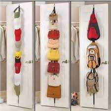 mini adjustable 8 hooks rack home storage organization over door