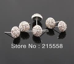 flat back earrings free shipping flatback half disco shamballa earrings