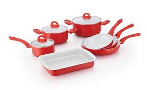 batterie de cuisine ceramique herzog hr pa10cr batterie de cuisine en revêtement céramique 10pcs