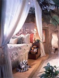 Poster Bed Canopy Eclectic Guest Bedroom With Built In Bookshelf U0026 Glass Panel Door