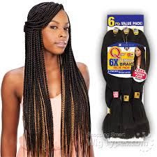 how many packs of hair for jumbo braids freetress synthetic braid que 6x king jumbo braid 6 pack for
