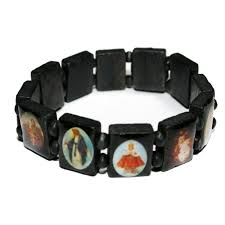 saints bracelet holy saints bracelet black wrist roxie rebel