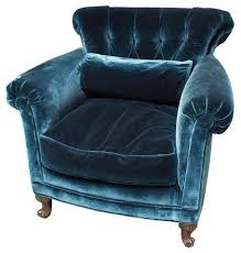 Victorian Armchairs Peacock Blue Silk Velvet Club Chair 1 650 Est Retail 850 On
