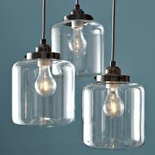 3 jar glass chandelier west elm