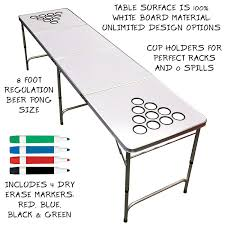 how long is a beer pong table gosports gopong 8 foot beer pong table with customizable dry erase