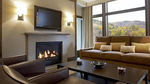 living room flat screen television design with fireplace mantel