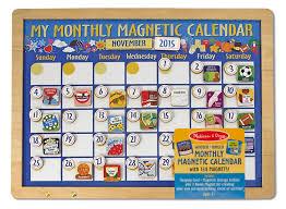 Magnet For Shower Door by Amazon Com Melissa U0026 Doug Deluxe Wooden Magnetic Calendar With