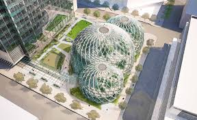 proposed biodomes for amazon bring nature in for brainstorming