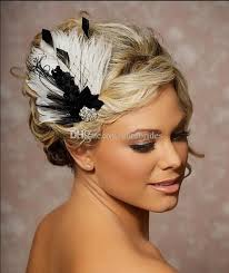 bridal accessories nyc new classic black and white feathered bridal fascinator hats