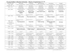 toddler lesson plan template young toddler u0027s weekly schedule