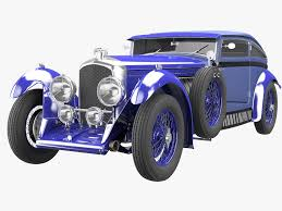classic bentley bentley blue train 3d model in classic cars 3dexport