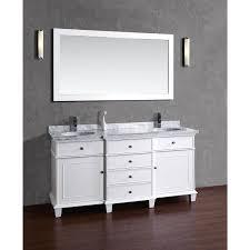 72 Inch White Bathroom Vanity by Stufurhome Cadence White 72 Inch Double Sink Bathroom Vanity With