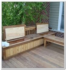 furniture suncast deck box ideas in white with brown seat for