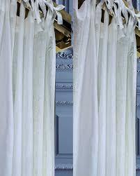 Tie Top Curtains Atacama Tie Top Linen Sheer Gauze Curtain 52 W X 84 L
