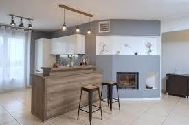 d馗oration int駻ieure cuisine rénovation et décoration intérieure cuisine bar cheminée coffrage