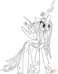 queen chrysalis coloring pages omeletta