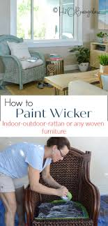 what is the best paint to use on oak kitchen cabinets how to paint wicker furniture quickly and easily h2obungalow