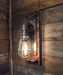 Edison Bulb Wall Sconce Black Iron Industrial Wall Sconce Edison Bulb Fixture Black Iron
