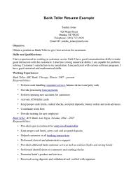 Standard Resume Sample by Bank Resume Sample Free Resume Example And Writing Download