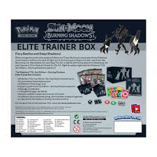 pokemon tcg sun and moon burning shadows elite trainer box