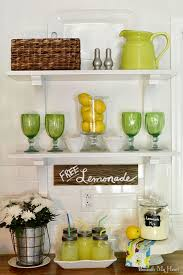 Kitchen Open Shelving Ideas Summer Open Shelves In My Kitchen Easy Peasy Limes And Summer