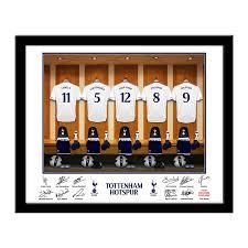 tottenham hotspur fc personalised dressing room print football