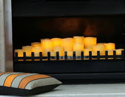 decorating with candles fireplace opening decorative ccbcfdac