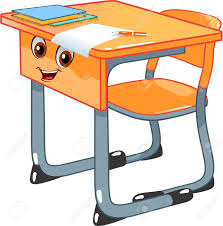 clipart bureau desk and a chair royalty free cliparts vectors and stock