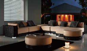 Dark Brown Wicker Patio Furniture by Furniture Endearing Outdoor Living Space Decoration Using Large