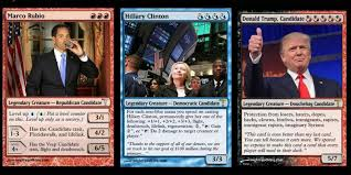 the 2016 election is so much better as magic the gathering