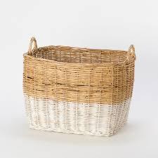 large wicker baskets with lids colorblock wicker basket terrain