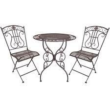White Bistro Table Titan 3 Bistro Table Chair Dining Set Outdoor Patio Rustic