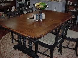 dining room sturdy distressed trestle dining table chandelier