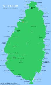 Map Of Caribbean Island by St Lucia Map Interactive Map Of St Lucia Island