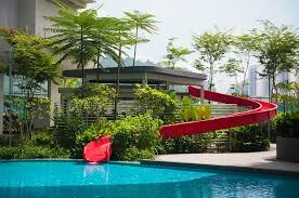 commercial luxury custom pool slides summit usa custom pool