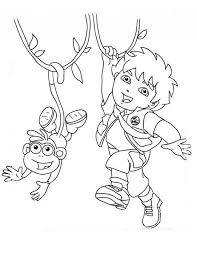 diego coloring printable diego coloring pages kids