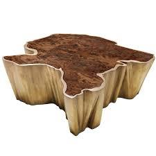Modern Living Room Tables Brabbu Walnut And Brass Organic Modern Coffee Table Fifty Shades