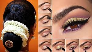 how to make bridal hairstyle south indian bridal makeup and hairstyle tutorial simple bridal