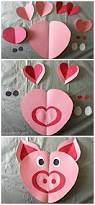 heart pig craft for kids valentine crafts paper and of